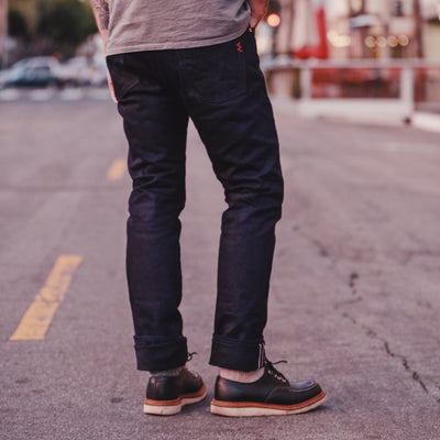 14oz IH-555S-142IB Super Slim Jean Indigo Black