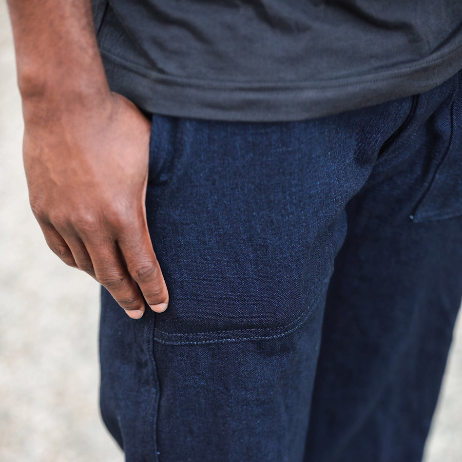 Fatigue Pant Double Indigo Twill Denim
