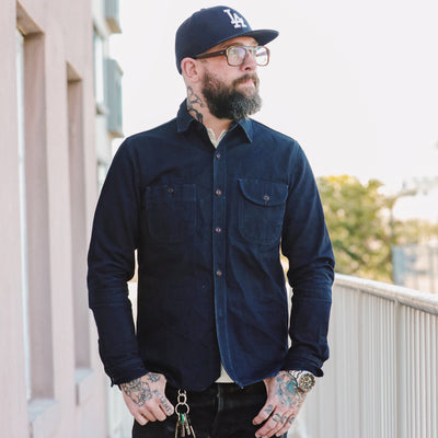 Indigo Selvedge Canvas (ISC) Work Shirt