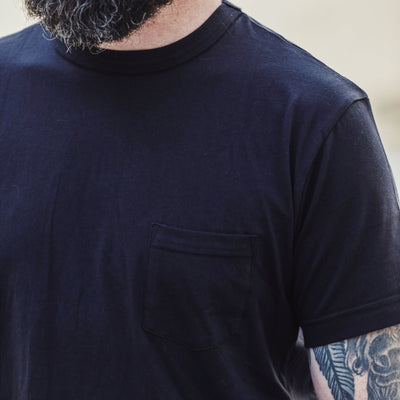 Pima Cotton Pocket Tee Black