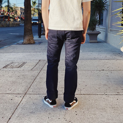 19oz IH-555S-19IB Selvedge Denim Super Slim Indigo/ Black