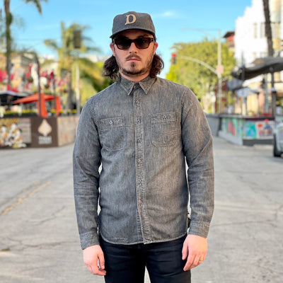 Denim Workshirt Black