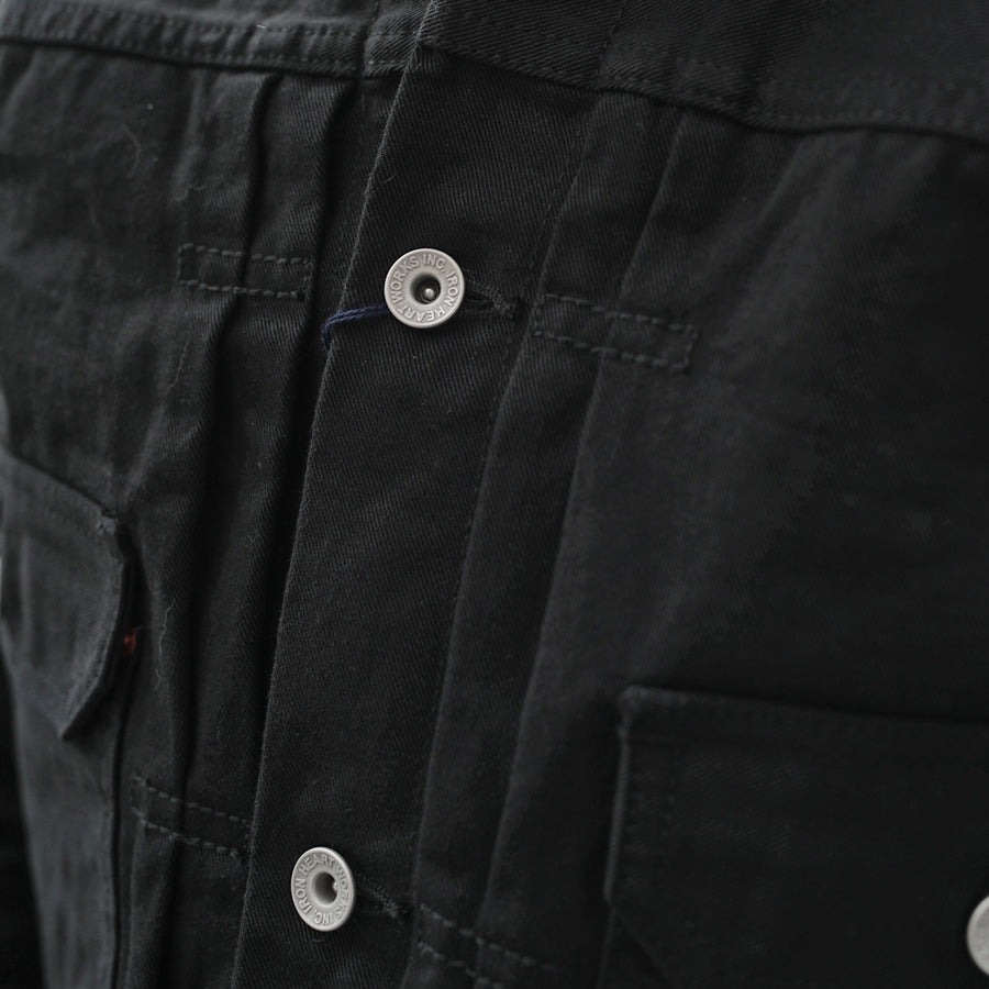 IHJ-84-BLK 12oz Selvedge Chino Type II Jacket Black