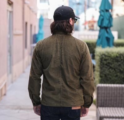 Corduroy Shop Jacket Olive