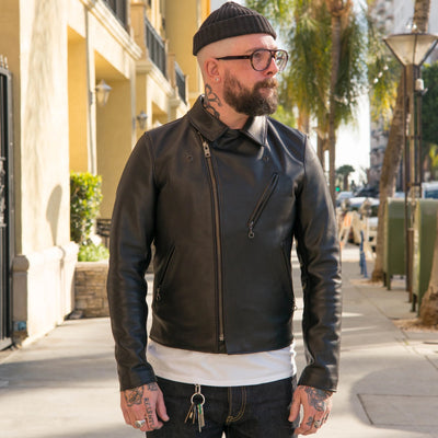503 Perfecto Cowhide Motorcycle Jacket Black