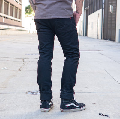 14oz IH-555S-142BB Super Slim Jean Black