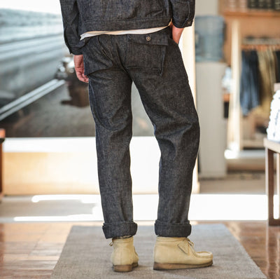 Fatigue Pant Indigo Twill Denim