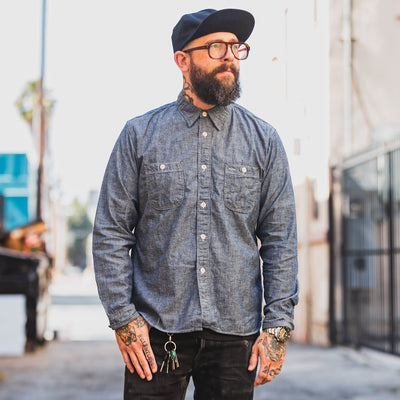 Chambray Work Shirt Indigo