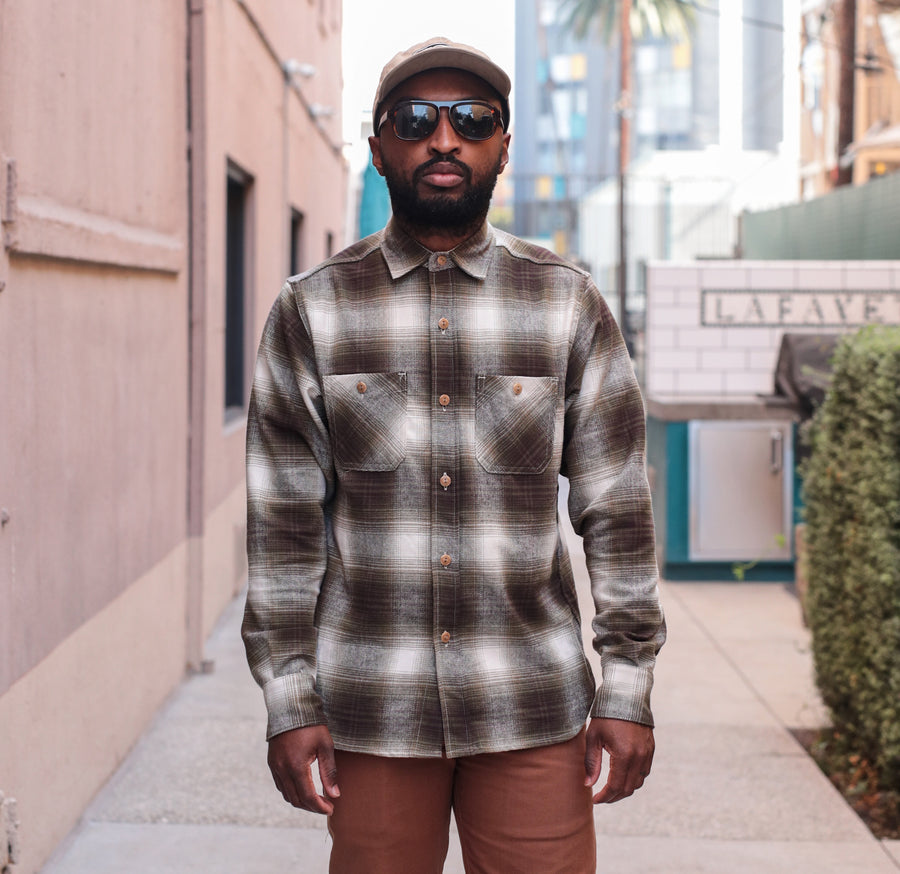 Utility Shirt Brushed Flannel Moss