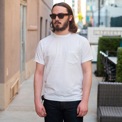 Pima Cotton Pocket Tee White