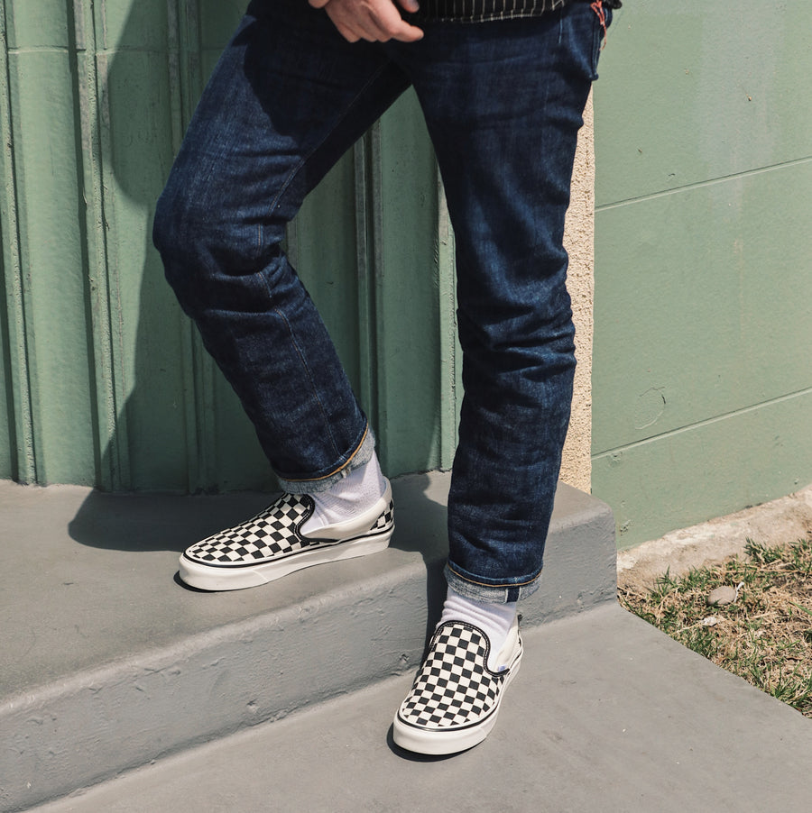 Classic Slip On 98 DX Black Checkerboard (Anaheim Factory)