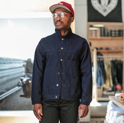 Type 1S Double Indigo Twill Denim Jacket