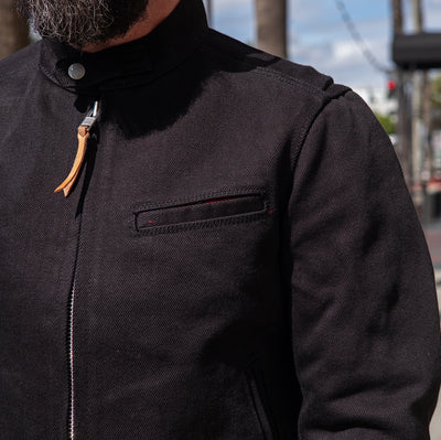 IH-9527J Denim Rider's Jacket Superblack Non Fade