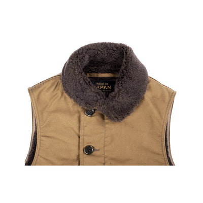 IHV-22 Alpaca Lined Whipcord N1 Deck Vest Khaki