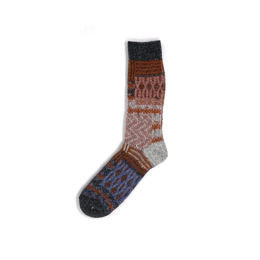 Recycled Knit Crew Sock Charcoal