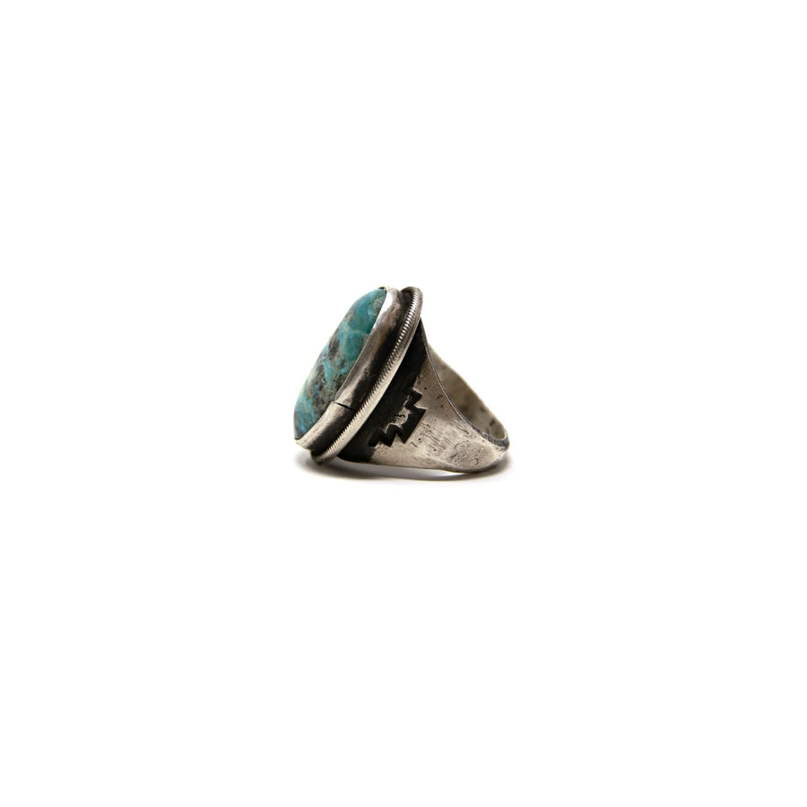 Heavy Duty Chimney Butte Turquoise & Sterling Ring Size 10