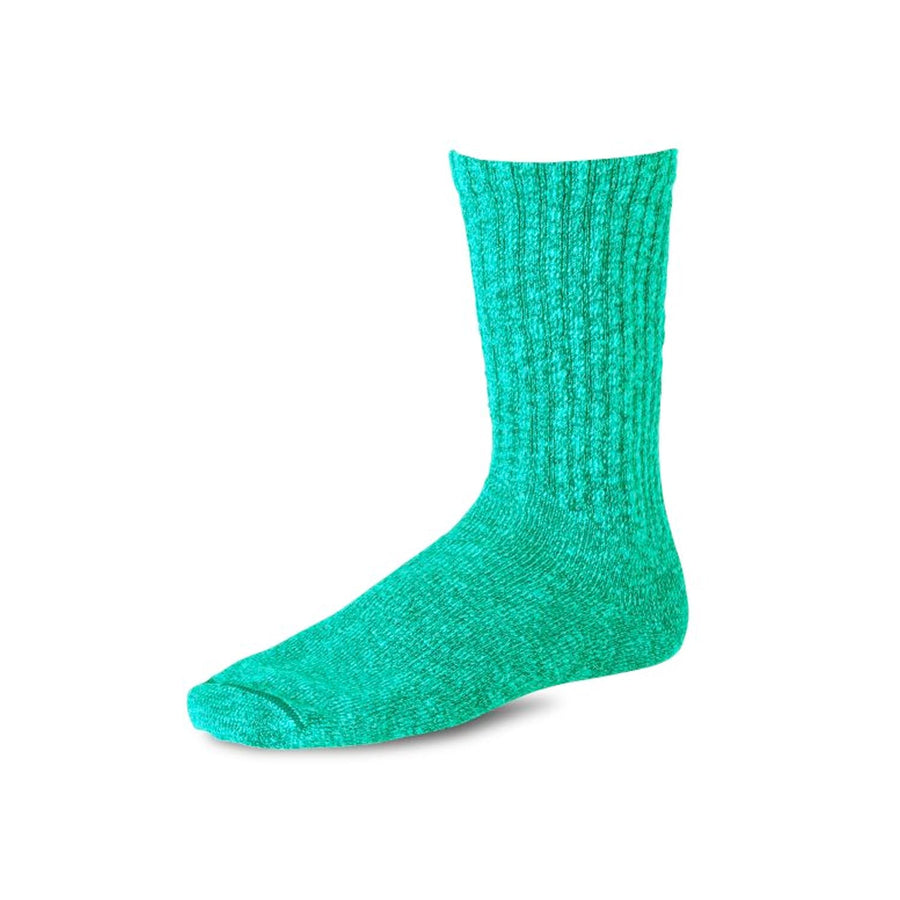 Cotton Ragg Overdyed Tonal Sock Green