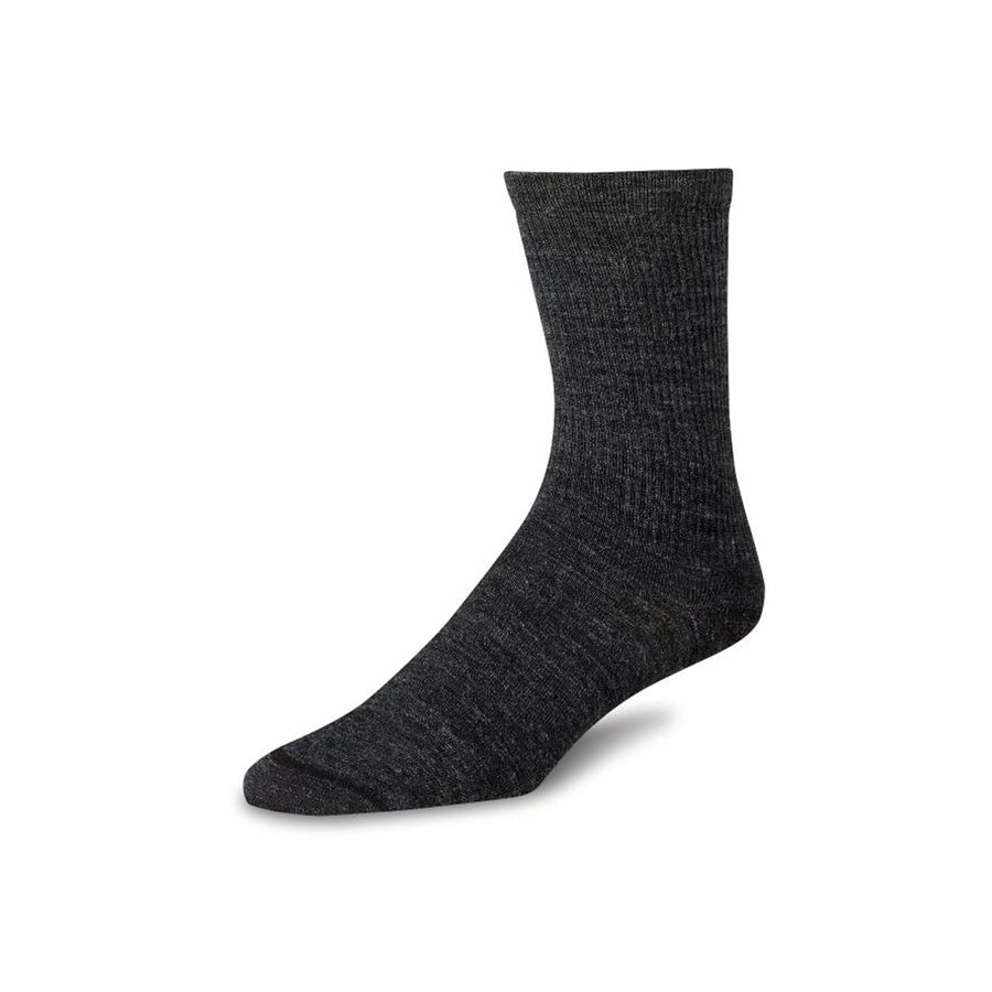 Wool Crew Liner Sock Charcoal