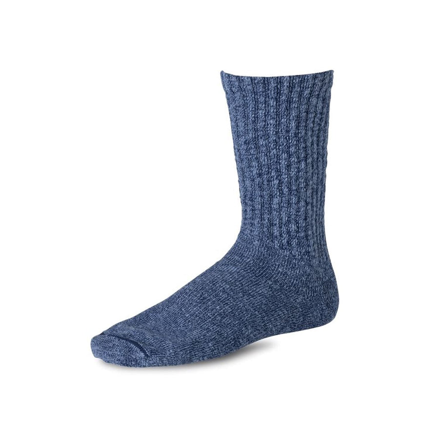 Cotton Ragg Overdyed Tonal Sock Navy