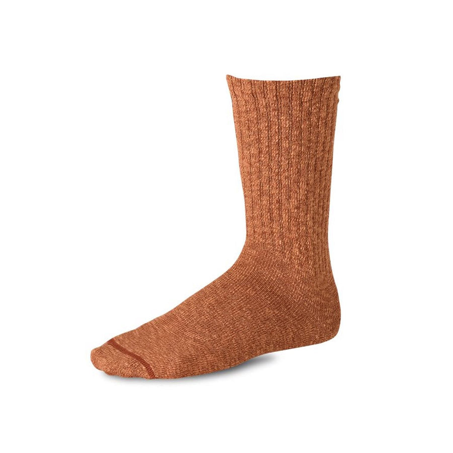Cotton Ragg Overdyed Tonal Sock Orange