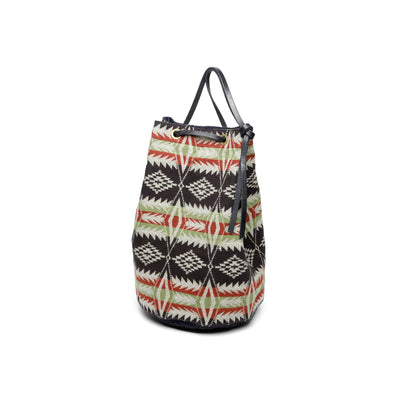 Native Pattern Bucket Bag Black/ Brown