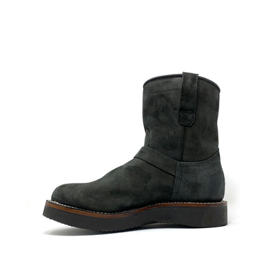 """Milwaukee"" Short Shift Engineer Boot Black Calf Nubuck"