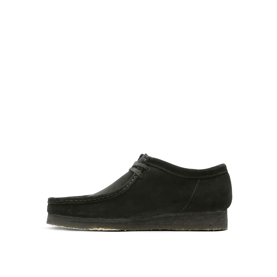 Wallabee Oxford Black Suede