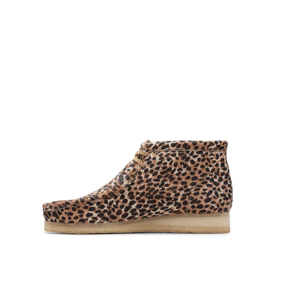 Wallabee Boot Brown Animal Print