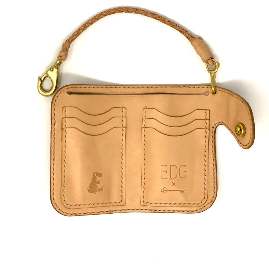 EDG x SOP Gentleman's Billfold Natural Shell Cordovan