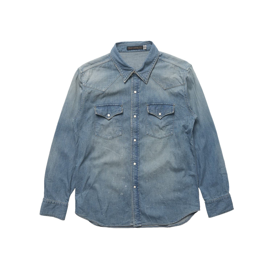 4894 Denim Western Shirt Hand Wash