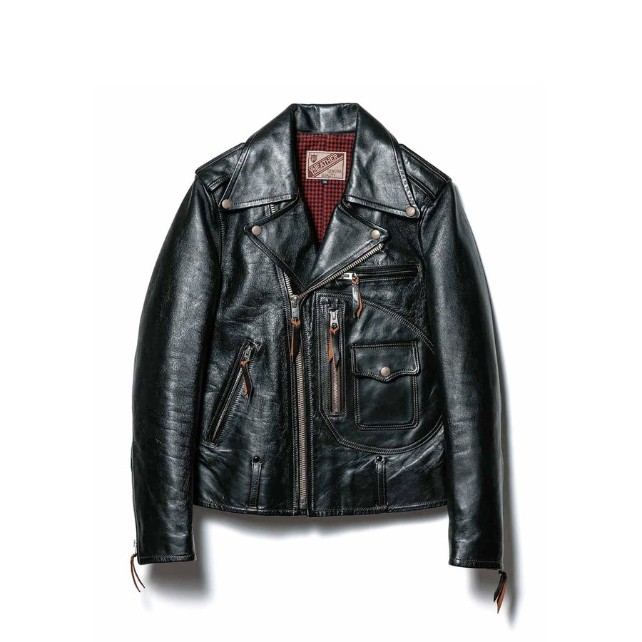 HR-55 Horsehide D-Pocket Double Rider Jacket