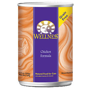 Wellness Cat Chicken 12.5 oz case