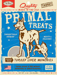Primal Freeze-Dried Turkey Liver Munchies