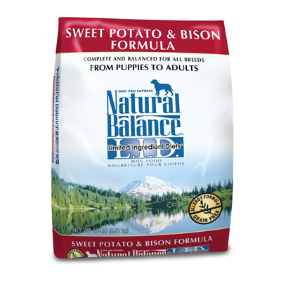 Natural Balance Grain-Free, L.I.D. Sweet Potato & Bison Formula for Dogs