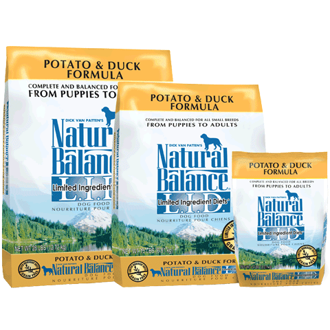 Natural Balance Grain-Free, L.I.D. Potato & Duck Formula for Dogs