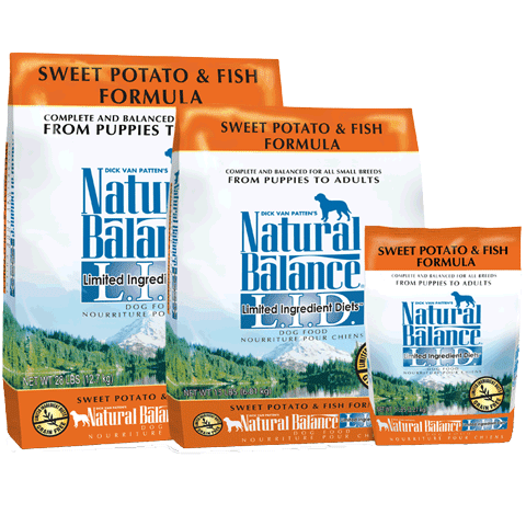 Natural Balance Grain-Free, L.I.D. Sweet Potato & Fish Formula for Dogs