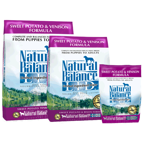 Natural Balance Grain-Free, L.I.D. Sweet Potato & Venison Formula for Dogs