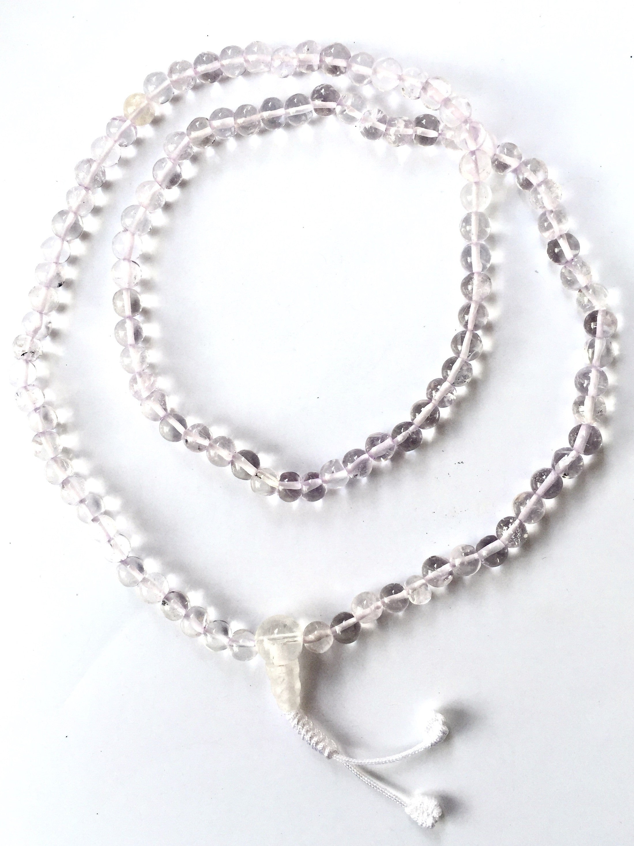 White Glass Mala