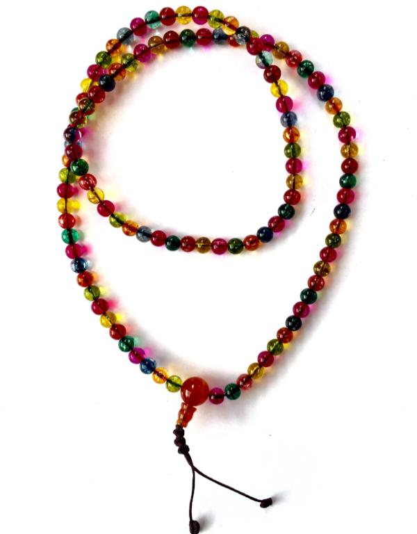 Rainbow Glass Mala