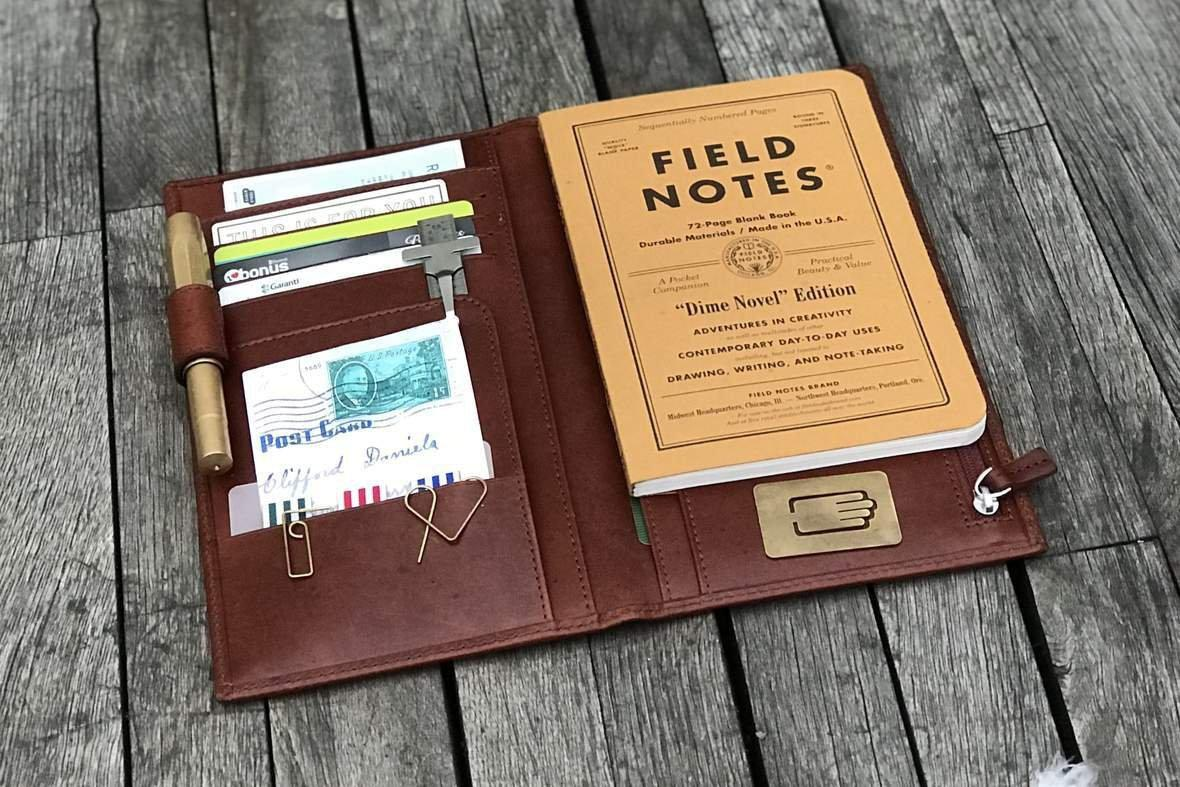 Traveler's Notebook Wallet Insert - Field Notes Dime Novel Edition - Galen Leather
