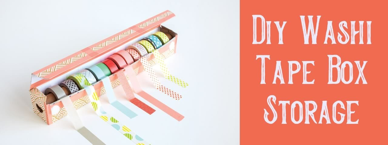 Diy Washi Tape Box Storage