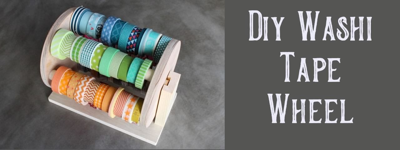 diy washi tape wheel storage