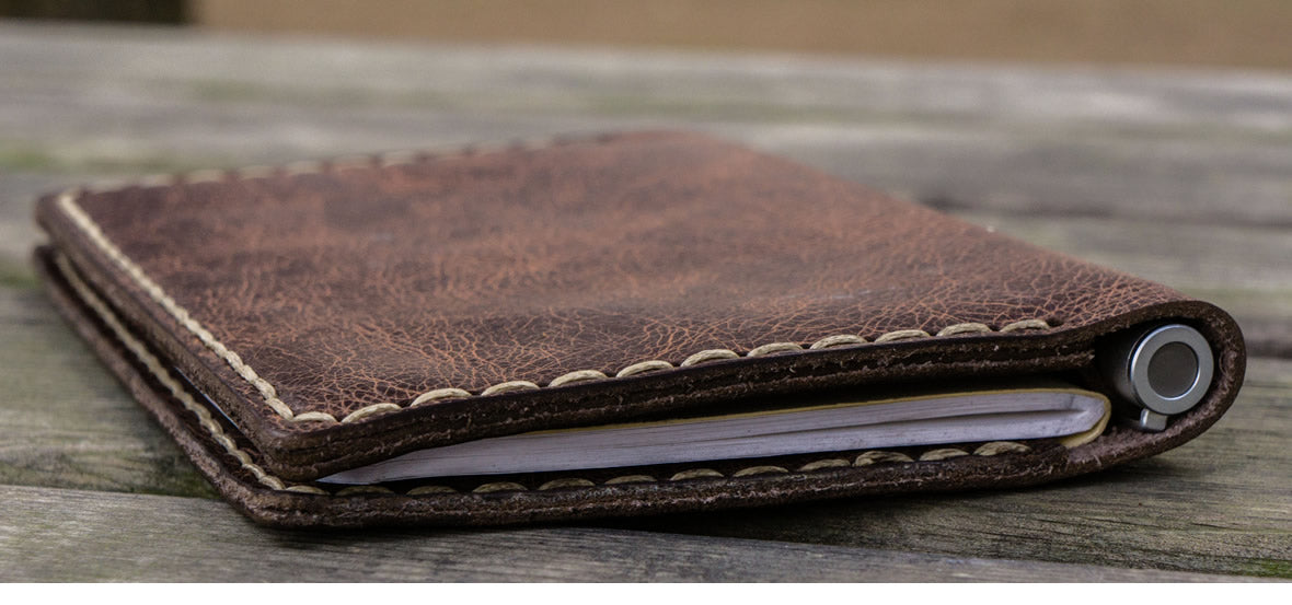 Leather field notes covers