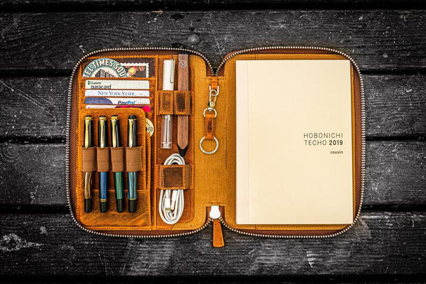 hobonichi cousin leather zip cover