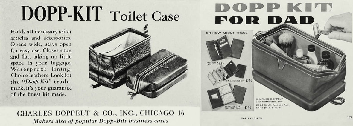 Dopp kit advertisement