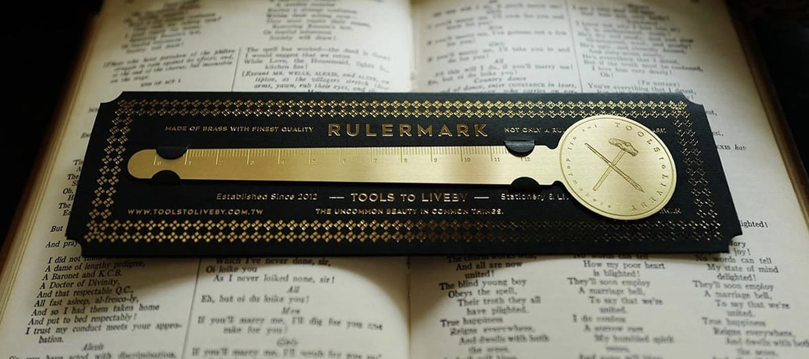 tools to live by brass rulermark