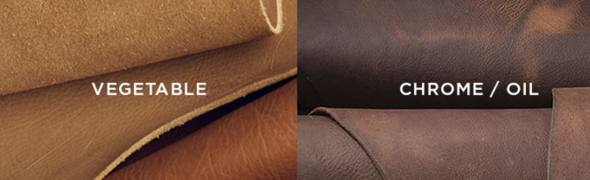 vegetable tanned chrome tanned leather vs.