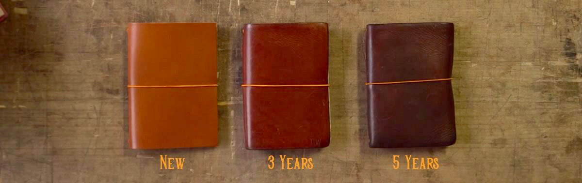 vegetable tanned leather patina