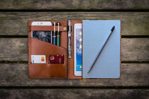 Baron Fig Confidant & iPad Mini  Cover - Brown - GalenLeather - 1