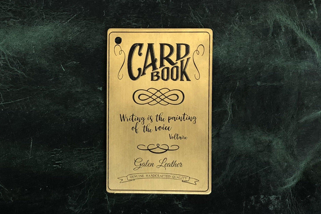 Brass CardBook-Galen Leather